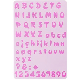 POCHOIR PLASTIQUE 26*18cm : alphabet (06)
