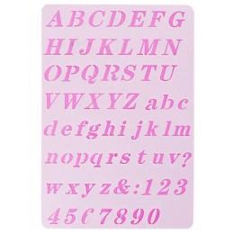 POCHOIR PLASTIQUE 26*18cm : alphabet (07)