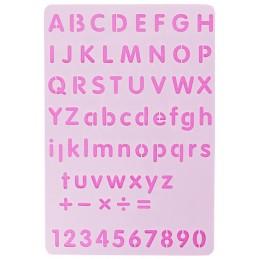 POCHOIR PLASTIQUE 26*18cm : alphabet (08)