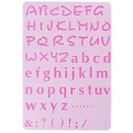 POCHOIR PLASTIQUE 26*18cm : alphabet (09)