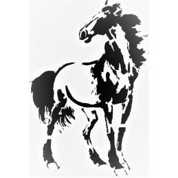 POCHOIR PLASTIQUE 26*18cm : cheval