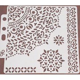 POCHOIR PLASTIQUE 13*13cm : motif oriental (04)
