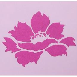 POCHOIR PLASTIQUE 13*13cm : fleur (03)