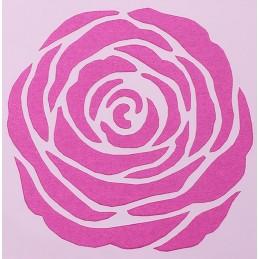 POCHOIR PLASTIQUE 13*13cm : fleur (04)