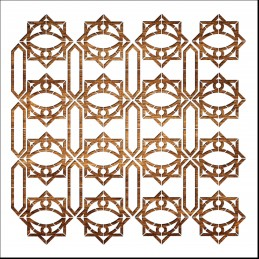 Pochoir 30 x 30 cm en plastique Mylar Arabic pattern