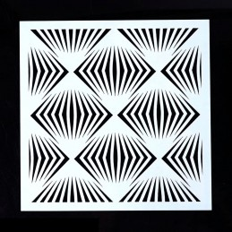 POCHOIR PLASTIQUE 13*13cm : motif fantaisie (24)
