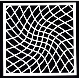 POCHOIR PLASTIQUE 13*13cm : motif fantaisie (21)
