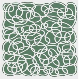 POCHOIR PLASTIQUE 13*13cm : motif fantaisie (19)
