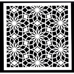 POCHOIR PLASTIQUE 13*13cm : motif fantaisie (23)