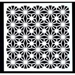 POCHOIR PLASTIQUE 13*13cm : motif fantaisie (25)