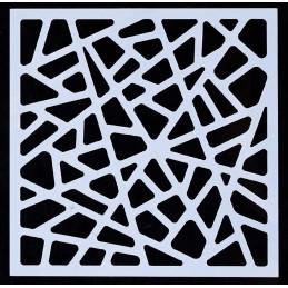 POCHOIR PLASTIQUE 13*13cm : motif fantaisie (27)