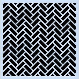 POCHOIR PLASTIQUE 13*13cm : motif géométrie (06)
