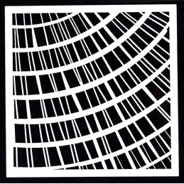 POCHOIR PLASTIQUE 13*13cm : motif fantaisie (28)