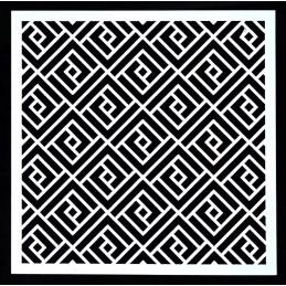 POCHOIR PLASTIQUE 13*13cm : motif fantaisie (14)