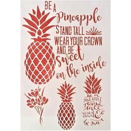 POCHOIR PLASTIQUE 30*21cm : les ananas