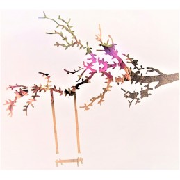 POCHOIR PLASTIQUE 13*13cm : balançoire sur l'arbre
