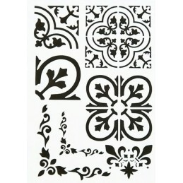 POCHOIR PLASTIQUE 30*21cm : motif antique (17)