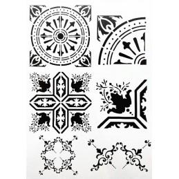 POCHOIR PLASTIQUE 30*21cm : motif antique (26)