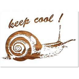 POCHOIR EN PLASTIQUE MYLAR Format 21 * 14,9 cm : Motif escargot Keep cool