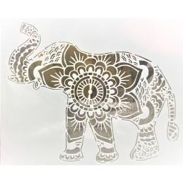 POCHOIR PLASTIQUE 30*21cm : éléphant Mandala
