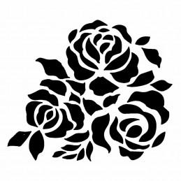 POCHOIR PLASTIQUE 13*13cm : roses (01)
