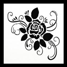 POCHOIR PLASTIQUE 13*13cm : rose (04)