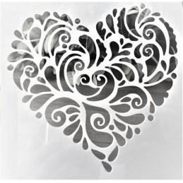 POCHOIR PLASTIQUE 13*13cm : Coeur (11)
