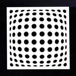 POCHOIR PLASTIQUE 13*13cm : Ronds (01)