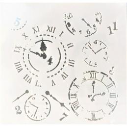 POCHOIR PLASTIQUE 13*13cm : pendule (02)