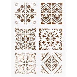 POCHOIR PLASTIQUE 30*21cm : motif antique (35)