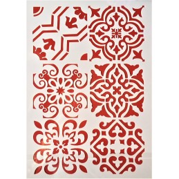 POCHOIR PLASTIQUE 30*21cm : motif antique (18)