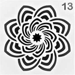 POCHOIR PLASTIQUE 13*13cm : motif fantaisie (46)
