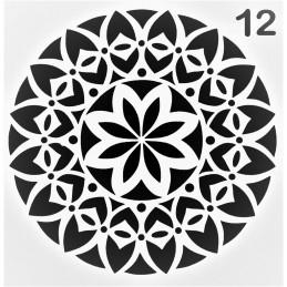 POCHOIR PLASTIQUE 13*13cm : motif fantaisie (47)