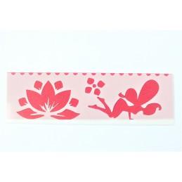 POCHOIR PLASTIQUE 18*6cm : fleur (08)