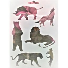POCHOIR PLASTIQUE 18*12cm : animaux (03)