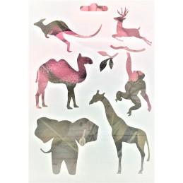 POCHOIR PLASTIQUE 18*12cm : animaux (07)