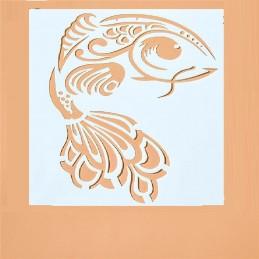 POCHOIR PLASTIQUE 13*13cm : poisson (01)