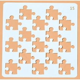 POCHOIR PLASTIQUE 13*13cm : Puzzle