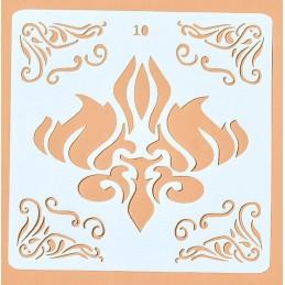 POCHOIR PLASTIQUE 13*13cm : motif antique (30)