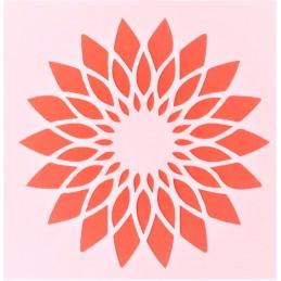 POCHOIR PLASTIQUE 13*13cm : fleur (42)