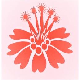 POCHOIR PLASTIQUE 13*13cm : fleur (43)