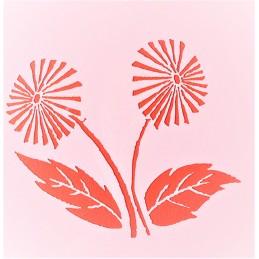 POCHOIR PLASTIQUE 13*13cm : fleur (44)