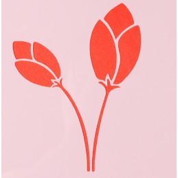 POCHOIR PLASTIQUE 13*13cm : fleur (45)