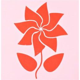 POCHOIR PLASTIQUE 13*13cm : fleur (46)