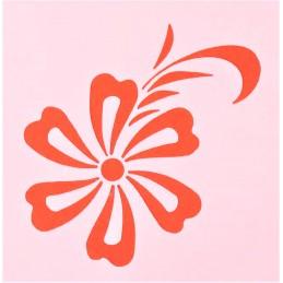 POCHOIR PLASTIQUE 13*13cm : fleur (47)
