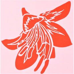 POCHOIR PLASTIQUE 13*13cm : fleur (48)