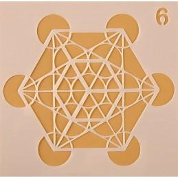POCHOIR PLASTIQUE 13*13cm : motif géométrie (10)