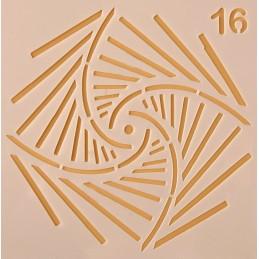 POCHOIR PLASTIQUE 13*13cm : motif fantaisie (43)