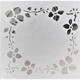 POCHOIR PLASTIQUE 13*13cm : fleur (01)