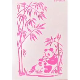 POCHOIR PLASTIQUE 30*21cm : panda (01)